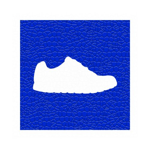 Silueta-Zapatilla-Azul